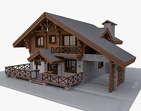 European Chalet House 3D