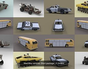 Mad Max vehicles Short package 3D model