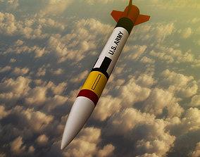 Patriot missile rocket 3D asset