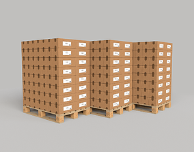 Pallet with goods 3D model