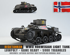 Low Poly Rikstanken light tank 3D model
