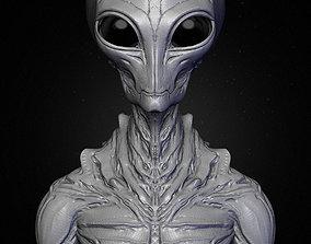 Realistic Alien 9 Sculpt 3D