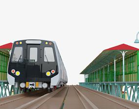 Metro scene 3D