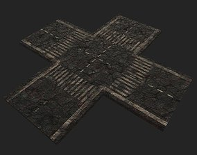 3D model low-poly Hellish Road Modular package