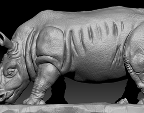 Rhino portrait 3D