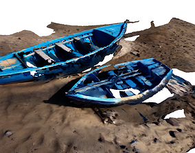 Boats on the sand 3D model