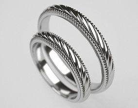 3D printable model ArtNuvo wedding rings
