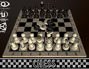 CHESS AND CHECKERS 3D asset