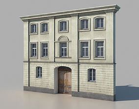 3D asset game-ready Classic building facade 01