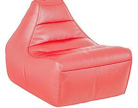 Armchair Modern Red 3D