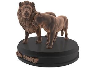 Lion Couple Printable