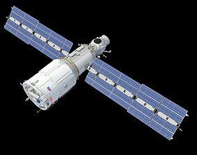 Zvezda Service Module ISS 3D model