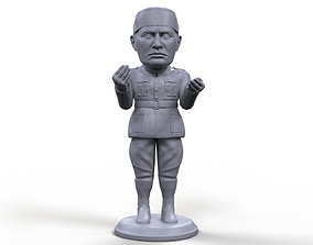 Benito Mussolini stylized high quality 3D printable