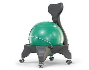 Gym Ball Office Chair 3D model