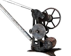 3D model OLd Quayside Crane