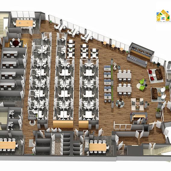 3D Floor Plan Modeling Rendering Services