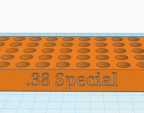 38 Special Reloading tray with handles 3D printable model