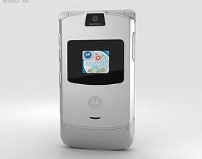 3D model Motorola RAZR V3 Silver