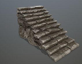 ruin stairs 3D asset low-poly