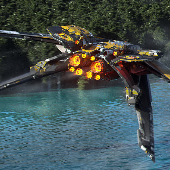 River Racer Sci fi Spaceship
