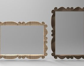 SWIRL - PICTURE or MIRROR FRAME 3D print model