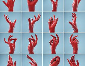 13 Female Hands Posed 3D model