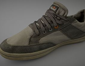 Worn sneaker shoe low poly 3D model realtime