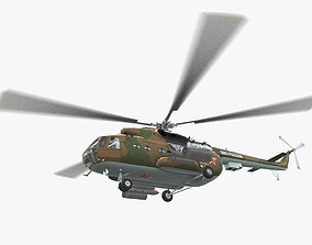 3D model Mi-8MT Russian Air Force Animated