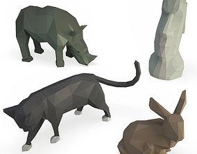 3D Sculpture Smalls Animals