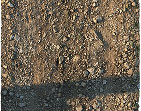 3D asset Rocky narrow road material