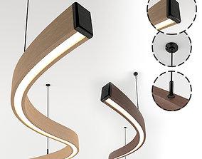 Wooden Lighting Pendant-01 3D asset