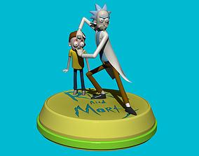 Rick and Morty 3D print model sculptures