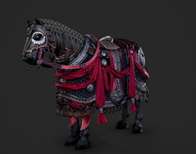 The warhorse of ancient Chinese armed cavalry 3D asset 2