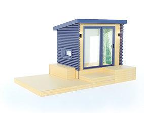 3D model Backyard office backyardhouse