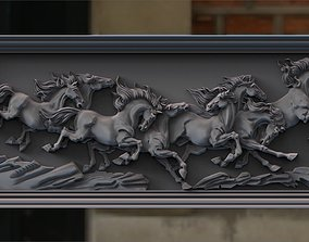 3D print model Eight Horses for CNC and