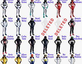 Drivers 2016 Formula 1 3D asset