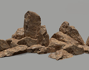 rocks 3D asset VR / AR ready mount