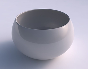 3D printable model Bowl spheric twisted smooth