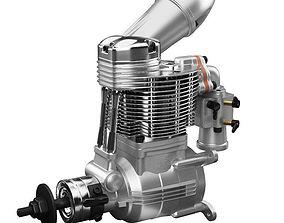 O S GF40 Gasoline Engine 3D model