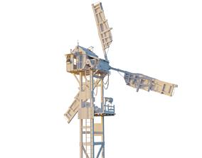 Windmill 3d model outdoor
