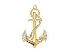 3D print model diamond anchor pendant 2019