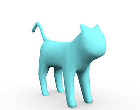 Cat model no texture game-ready