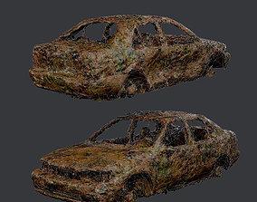 3D asset Apocalyptic Damaged Destroyed Vehicle Car Game 1
