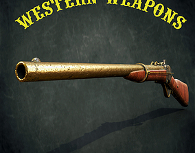 Slant-Breech Sharps Carbine 1853 3D model