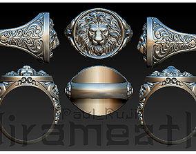 Lion Head Gothic Ring 3D print model
