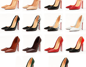 3D model 14 Pairs Collection of Christian Louboutin So 2