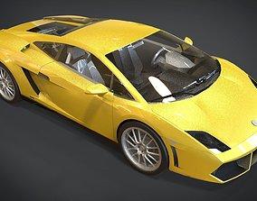 Lamborghini Gallardo 3D asset low-poly