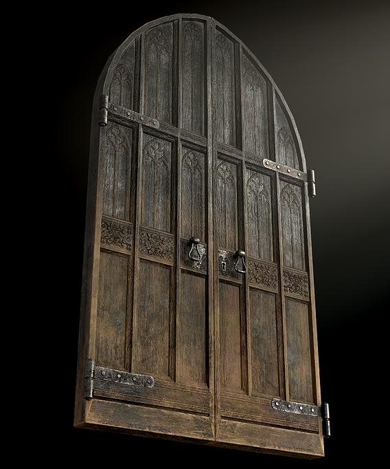 Gothic Wooden Door