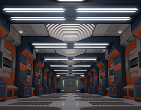 lab 3D model Sci Fi Corridor