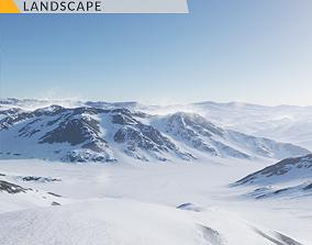 3D model Antarctica Landscape - UE4